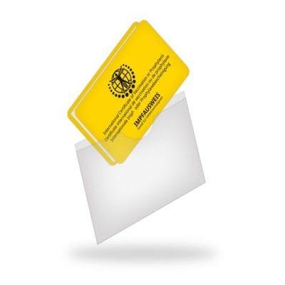 Schutzhülle im Scheckkartenformat
