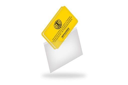 Schutzhülle passend zum Impfausweis im Scheckkartenformat