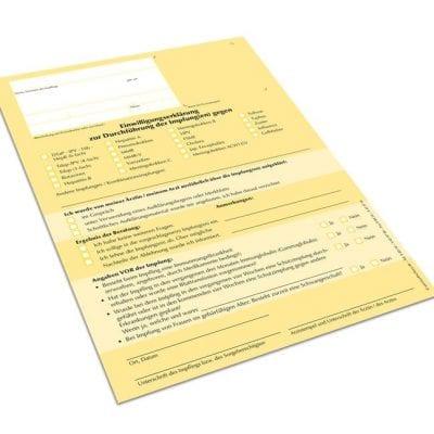 Einwilligungserklärung Impfungen Einzelblätter