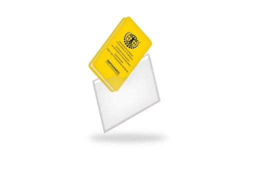 Schutzhülle Duplex mit 2 Einschubfächern für Impfausweis und z. B. Ihrer Visitenkarte