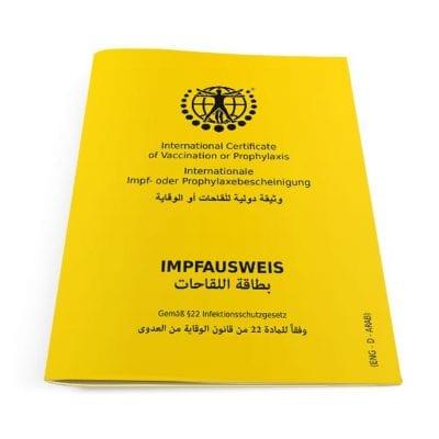 Der internationale Impfausweis (Klassik) Arabisch