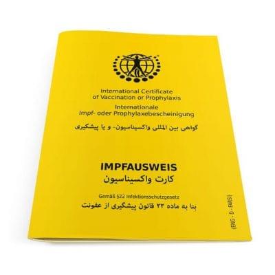 Der internationale Impfausweis (Klassik) Farsi
