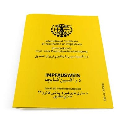 Der internationale Impfausweis (Klassik) Paschtu