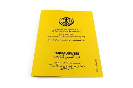 Internationaler Impfausweis Klassik Englisch-Deutsch-Paschtu